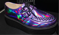 2014 sexy fashion Creepers high quality NEW cute Punk Silver ladies creeper platform creepers shoes S1201907 party