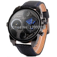 2014 New Hot Fashion Men's Sports Watches Stainless Steel Watch Luxury Quartz Olum Watches Multiple Time Zone Military Watch