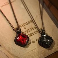 Accessories female half gemstone necklace long design fashion all-match vintage accessories diamond jewelry