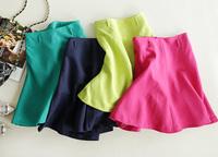 Autumn women's bust skirt formal brief slim candy color linen high waist sheds