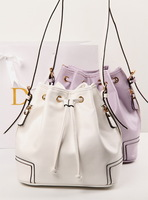 Vintage 2014 bucket bag beam port messenger bag white women's bucket bag handbag messenger bag
