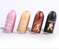 4 style Fashion Bullet shape USB Flash drive pen drives 4GB/8GB/16GB/32GB memory stick/thumb/disk keychain Holiday gift AU114