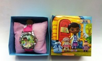 Wholesale 1pcs Doc McStuffins Children's watches with boxes free shipping