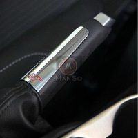 For 2012 Focus Red ST Handbrake Decoration ABS Chrome Trim Cover Auto Accessories