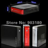 4G DDR 3 / 500G HD MINI ITX case nettop AMD A6-3420 Quad Core 1.5G/2. 4 G(Turbo)  4MB caches L2 HD6520 WIFI 1080P HDMI MINI PC