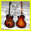 sunburst 16 inch Handmade cutaway Jazz guitar