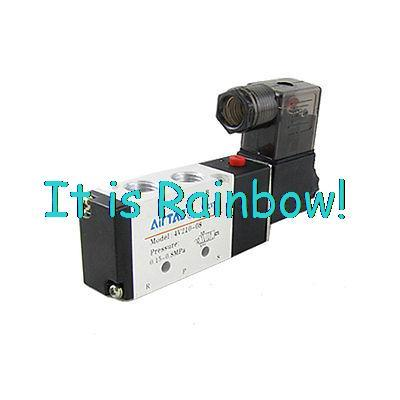 Арматура Valve 4V210 2 5 high quality dc 12v 250ma 3w 2 positions 5 ports 4v210 08 model pneumatic solenoid valve free shipping