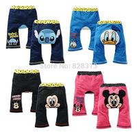 Baby Pants Promotion Mid 2014 New Arrivals 1pcs 100% Cotton Minnie Mouse Pp Long Trousers Cartoon Legging Boys/girls