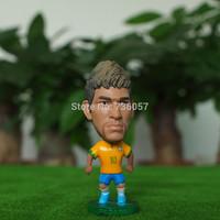 New !14-15season Free shipping retailing football star doll/toy figure of super star neymar in brazil team football fan souvenir