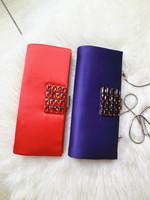 HOT!2014 New Classic cultch bag Retro Desigual Womens handbag Messenger shoulder bag  Diamond square buckle Silk satin handbag