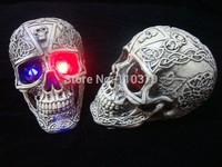 Halloween Haunted House Halloween supplies bar decoration props ghost horror luminous resin skull Kito free shipping