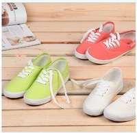 2014 new Korea style fashion sneaker for women Summer lady canvas sport shoes high quality breathable walking women shoes WS7117