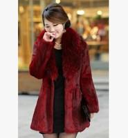 Fashion Women Fur Coat Winter V-Neck Slim Long Full Sleeve Lady Outwear Warm Shaw Cardigan Trench Coat W005