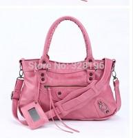 2014 new candy color fashion female motorcycle bag tassel shoulder bag