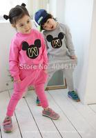 retail Children's clothes set ! autumn Girls boys sports pants + Print cartoon mouse T-shirt  2 pcs suits  ELZ-T0332
