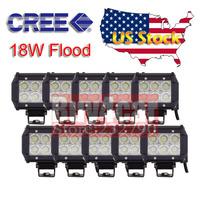 "Wholesale 10x LED Working Light Bar  4"" 18w Flood Beam Offroad Motorcycle Headlight Car Truck Trailer Tractor SUV ATV 4X4 #4094"