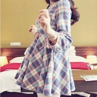 Maternity clothing, 2014 autumn fashion maternity dress, one-piece dress, cotton top