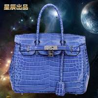 Crocodile women's genuine leather handbag fashion platinum bag Small leather bag 2014