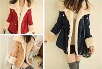 2014 spring women's winter slim double breasted medium-long woolen overcoat outerwear