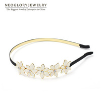 Neoglor Czech Rhinestone 14K Gold Plated Charm Hairwear for Women Simulated Pearl Fashion Jewelry Accessories 2014 New Arrival