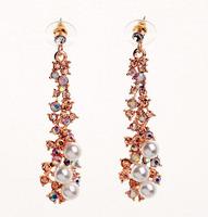 Fashion Elegant Jewelry Wholesale Lady Luxury Pearl  Long Earrings Free Shipping
