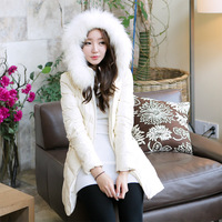2013 down coat slim female plus size mm thickening medium-long outerwear