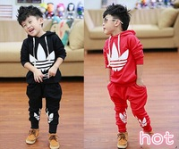 2014 Korean version of spring models boy sweater + pants suit free shipping,Free shipping