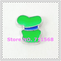 Goofy 's Green Hat Floating Charms Chef Cap Charm For Glass Floating Locket Accessories