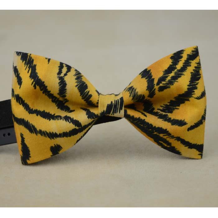 Tiger Print Bow Tie Tiger Stripes Cotton Bow Tie