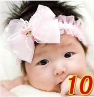 Lace Floral Baby Girls Headwear Cute Little Kids' Headbands Hair ties
