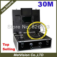 Video pipe inspection camera CCTV Drain inspection system Sewer endoscope 30m fiberglass cable