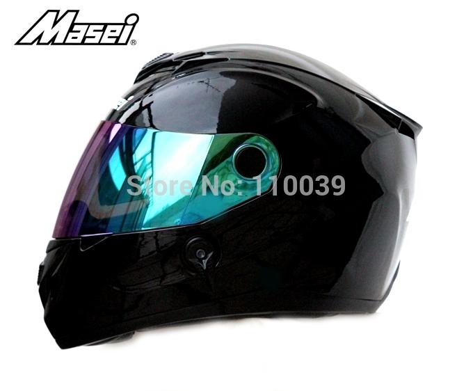 Masei 848 Black capacete motorcycle DOT & ECE helmet motorcycle Free Shipping Worldwide(China (Mainland))