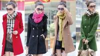 girl's lady's women's spring autumn winter wool sweater coat jacket outwear
