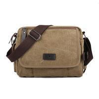 New arrival men's canvas shoulder messenger bags small bag