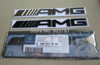 10pcs Metal 6.3AMG 5.5AMG 3.2AMG car emblem sticker AMG black / silver for S63 C63 E63 CL63 CLS63 ML63 6.3 63  Badge