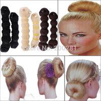 Imixlot Hair Making Tools 3 Colors 2X Elegant Casual Hair Elegant Magic Style Buns Former Maker Donut Curler JH03023