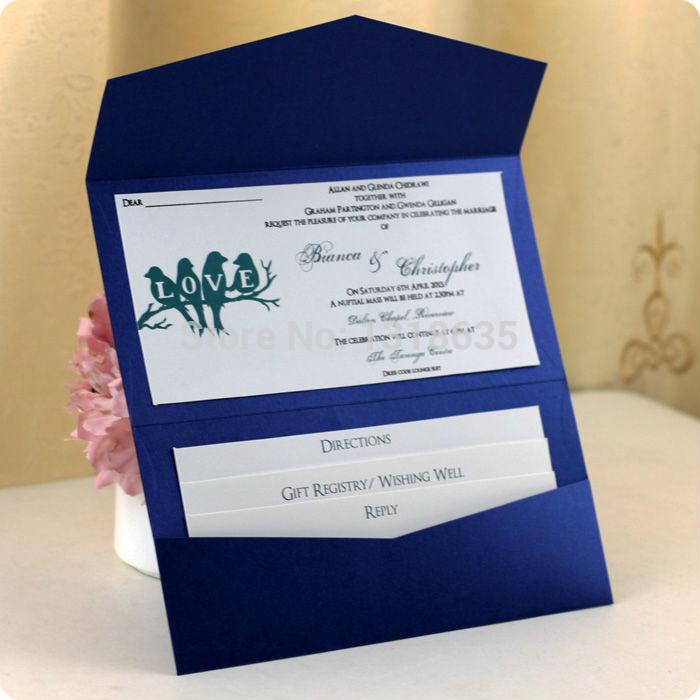 Online Get Cheap Royal Blue Wedding Invitations Aliexpress