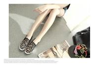 Fashion 2014 high quality arrival women flat sneakers size 35-39 leopard casual Koea style women outdoor walking loafers WS7127