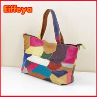 K633 Irregular Handbag New Fashion Real Leather Cowhide Colorful Shoulder Bags, Women Totes