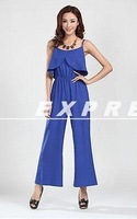 Hot Sale 2014 new spring summer female Jumpsuits Sleeveless Chiffon wide-legged pants