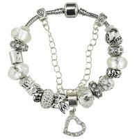 2015 free shipping promotion fashion european style glass beads bracelets / Europran style murano glass beads bracelet wholesale