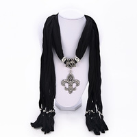 8 Style free shipping Fashion Ms Retro exaggerated punk metal pendant scarf jewelry High quality rhinestone for women  2014 PT35