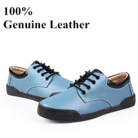 Genuine Leather brand shoes women sneakers Fashion women's flats shoes casual oxford shoes for women brogues plus size