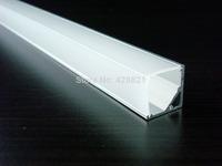100m/Lot 1616B aluminum corner profile with PC cover for width up to 10mm led strips corner led lighting stores shelf LED lights