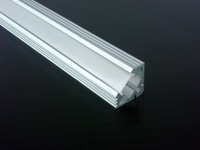 30m/Lot 1919 aluminum profile with FROSTED cover for wide up to 11mm led strips right angle profile the lights to the corner