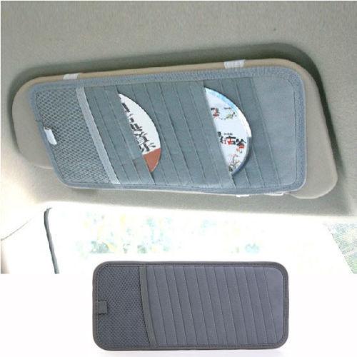 Details about Gray Simple Practical Car Interior Sun Visor canvas DVD Case 12 CD Folder Pocket(China (Mainland))