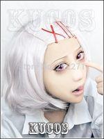 FREE SHIPPING Anime Tokyo Ghoul Tokyo Guru SUZUYA JYUZO  Cosplay Costume Wig + Red Clips Heat Resistant  + Cap