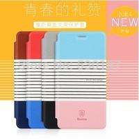 BASEUS Brand Hot Color pu Leather Slim Case For Xiaomi Mi4 / Mi 4 phone cover, 4 color, 1pc free ship