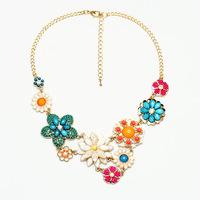 2014 Fashion Women's Necklaces Pendant  Flower Design Party Gift QD5124