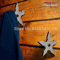 Free Shipping 1Piece Ninja Throwing Death Star Coat Hook / Ninja Star Coat Hook